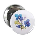 "Watercolor Flowers 2.25"" Button"