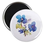 "Watercolor Flowers 2.25"" Magnet (100 pack)"