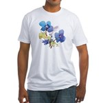 Watercolor Flowers Fitted T-Shirt