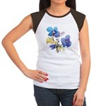 Watercolor Flowers Women's Cap Sleeve T-Shirt