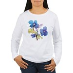 Watercolor Flowers Women's Long Sleeve T-Shirt