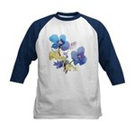 Watercolor Flowers Kids Baseball Jersey