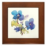 Watercolor Flowers Framed Tile