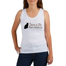 Adopt Homeless Cat Women's Tank Top