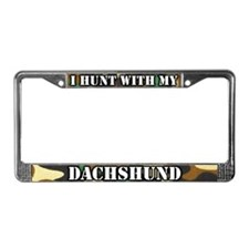 Hunting Dachshund License Plate Frame