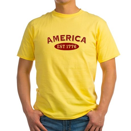 America Est 1776 Yellow T-Shirt