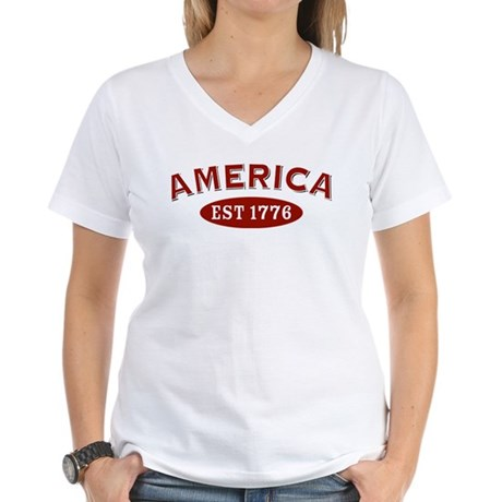 America Est 1776 Women's V-Neck T-Shirt