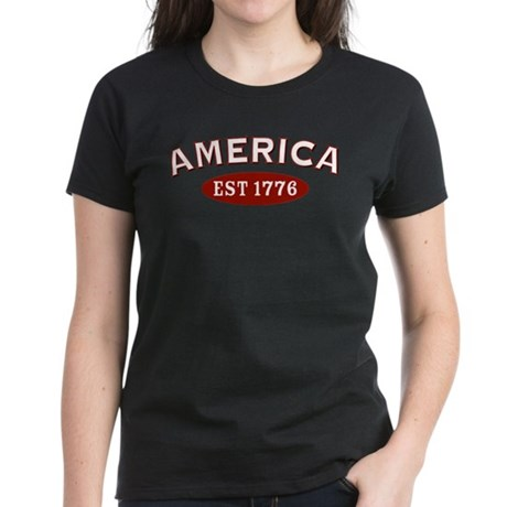 America Est 1776 Women's Dark T-Shirt