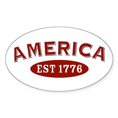America Est 1776 Oval Sticker