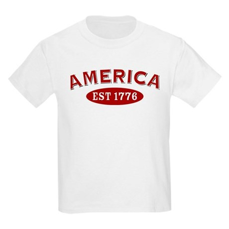 America Est 1776 Kids Light T-Shirt