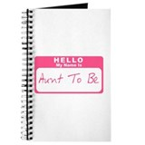 My Name Is Aunt To Be (Pink) Journal