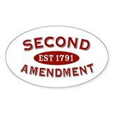 Second Amendment 1791 Oval  Aufkleber