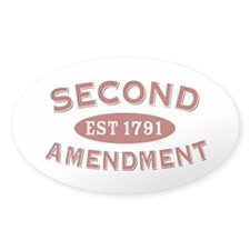 Second Amendment 1791 Oval Decal
