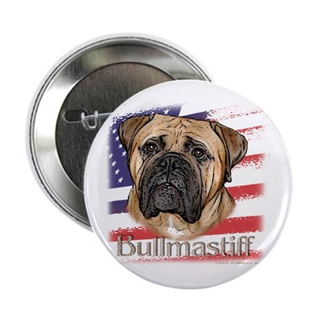 Bullmastiff - flag Button