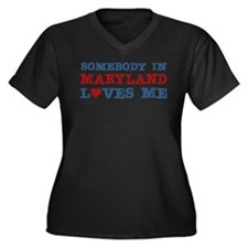 Somebody in Maryland Loves Me Women's Plus Size V-