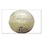 RMS Titanic Steward Rectangle Sticker 50 pk)