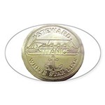RMS Titanic Steward Oval Sticker (50 pk)