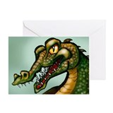 Cool Aligator Greeting Card