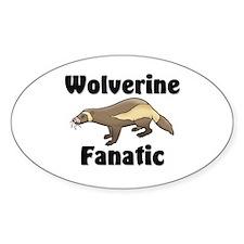 Wolverine Fanatic Oval Sticker
