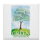 Green Riverside - Tile Coaster