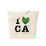 I Love CA - Green Tote Bag