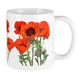 Red Poppies  Tasse