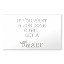 Dwarven Job Rectangle Decal