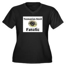 Tasmanian Devil Fanatic Women's Plus Size V-Neck D