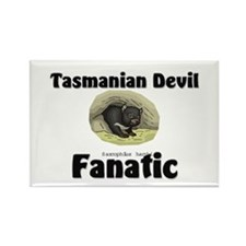 Tasmanian Devil Fanatic Rectangle Magnet