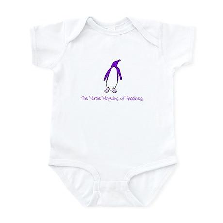 Purple Penguins of Happiness Infant Bodysuit