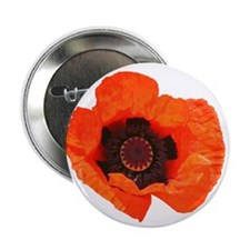 """Red Poppies 2.25"""" Button"""