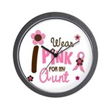 I Wear Pink For My Aunt 12 Wall Clock