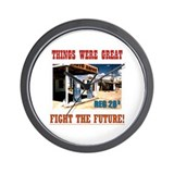 FIGHT THE FUTURE Wall Clock
