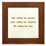 Pictures, Footprints Framed Tile