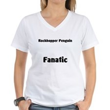 Rockhopper Penguin Fanatic Women's V-Neck T-Shirt