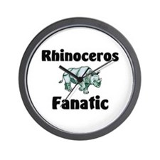 Rhinoceros Fanatic Wall Clock