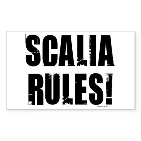 Scalia Rules Rectangle Sticker