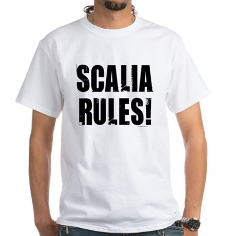 Scalia Rules White T-Shirt