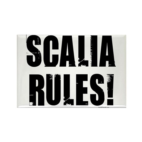 Scalia Rules Rectangle Magnet