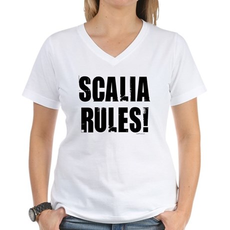 Scalia Rules Women's V-Neck T-Shirt