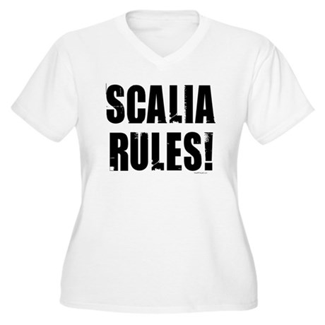 Scalia Rules Women's Plus Size V-Neck T-Shirt