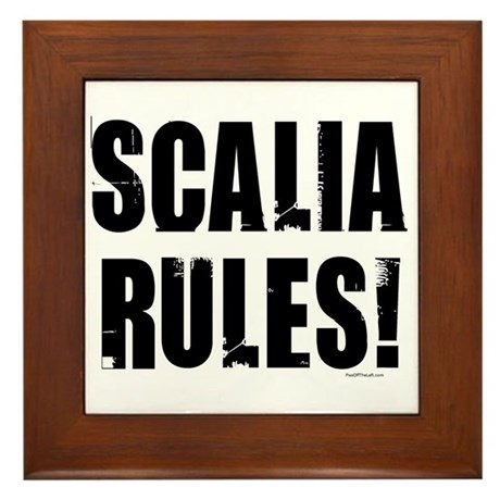 Scalia Rules Framed Tile