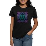 Colorful Papercut Women's Dark T-Shirt