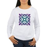 Colorful Papercut Women's Long Sleeve T-Shirt