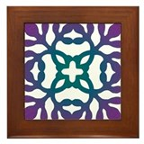 Colorful Papercut Framed Tile