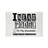 I Wear Pearl For Grandfather Rectangle Magnet (10