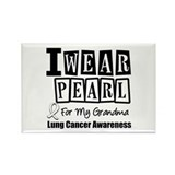I Wear Pearl For My Grandma Rectangle Magnet
