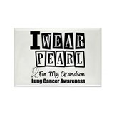 I Wear Pearl For My Grandson Rectangle Magnet (10