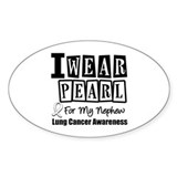 I Wear Pearl For My Nephew Oval Sticker (10 pk)