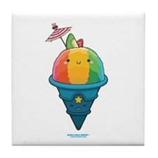 Kawaii Rainbow Shaved Ice Tile Coaster